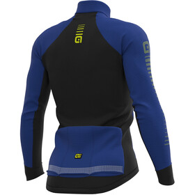 Alé Cycling Graphics PRR Thermo Road Maillot Manga Larga Hombre, blue light/fluo yellow